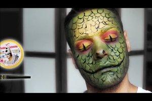 Schlange schminken - so gelingt das Karnevals-Make-up