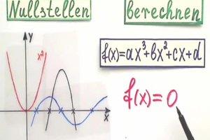 Nullstellen berechnen - so funktioniert's korrekt