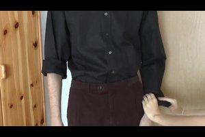 Krempeln hemd ärmel Hemd hochkrempeln