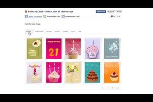 Auf Facebook eine Geburtstagskarte versenden - so geht's