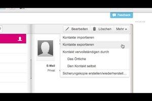 T-Online: Adressbuch exportieren - so geht's
