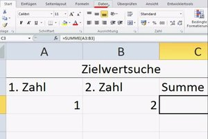 Zielwertsuche unter Excel 2010 nutzen - so funktioniert's