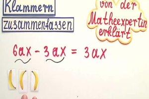 Klammern auflösen und zusammenfassen - von der Matheexpertin erklärt