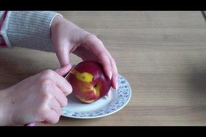Pfirsiche häuten - so funktioniert's