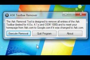 Die ASK-Toolbar löschen - so geht's