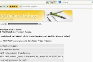 Web.de: Toolbar löschen - so geht's