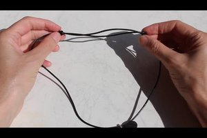 Knoten zum Verschieben für Halsketten richtig binden