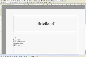 Mit OpenOffice einen Briefkopf erstellen - so geht's