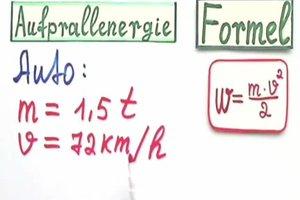 Aufprallenergie berechnen - so geht's