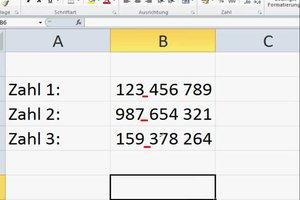 In Excel Leerzeichen einfügen
