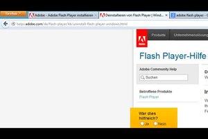 Adobe Flash-Player lässt sich nicht installieren - so beheben Sie den Fehler