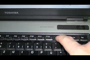 Screenshot machen auf einem Laptop von Toshiba - so geht's