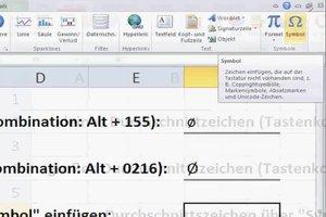 Ein Durchschnittszeichen bei Excel einfügen - so gelingt's