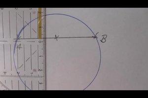 Den Mittelpunkt eines Kreises bestimmen - zwei Methoden