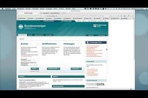 Bundesanzeiger: Insolvenzen online einsehen - so geht's