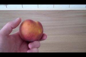 Pfirsiche einfrieren - so geht's