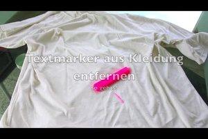 Textmarker aus Kleidung entfernen - so geht's