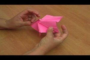 Origami-Rose - Anleitung für eine authentische Rose