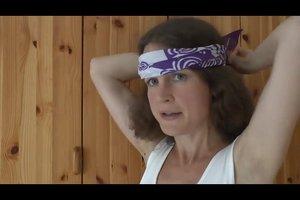 Bandana binden für den Kopf - Anleitung