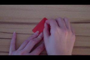 Papier-Rose falten - Anleitung