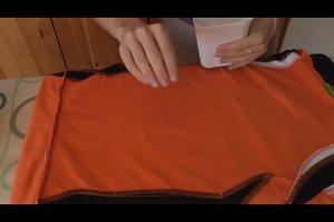 Polyester bügeln - so wird's gemacht