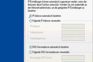 Netzwerkadresse beziehen bei XP - so geht's