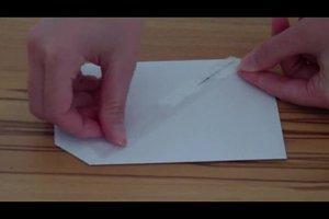 Briefumschlag falten mit DIN-A4-Bogen - so geht's