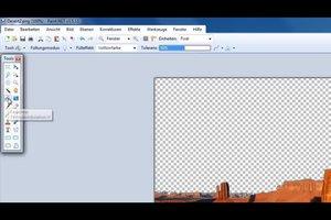 Paint.NET - transparente Farbe bestimmen Sie so