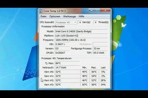 Bei Windows 7 die CPU-Temperatur anzeigen - so funktioniert's