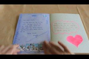Leeres Buch zu einem persönlichen Geschenk gestalten - Anleitung