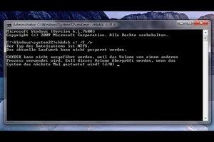 Unter Windows 7 chkdsk ausführen - so funktioniert's