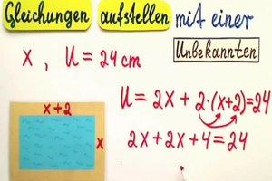 Gleichungen aufstellen und lösen - so geht's