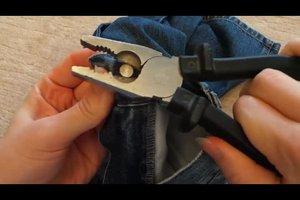 Jeansknopf entfernen - so lösen Sie den Knopf