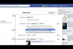 In Facebook das Geburtsdatum ändern - so geht's