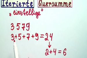 Iterierte Quersumme - die Matheeexpertin erklärt, wie's gemacht wird