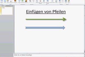 In PowerPoint einen Pfeil einfügen und gestalten