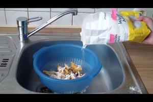Pilze putzen mit Mehl - so geht's