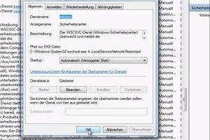 Windows Sicherheitsdienst deaktiviert sich immer automatisch
