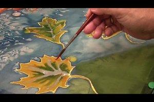Mit Seidenmalerei Tücher selber gestalten - so geht's