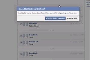 Bei Facebook mehrere Nachrichten löschen - so geht's