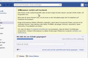Facebook profil deaktivieren