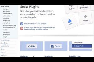 Facebook-Link auf Homepage setzen - so geht's