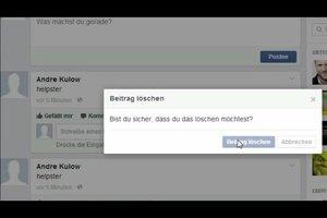 Facebook: Aktivitäten löschen - so funktioniert's