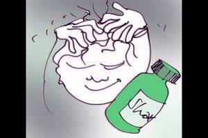 Pilz auf der Kopfhaut behandeln - so geht's