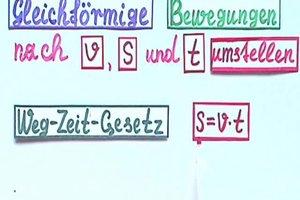 v s t umstellen - so rechnen Sie mit der Formel für gleichförmige Bewegungen