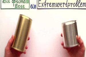 Die optimale Dose - in Mathematik diese Extremwertaufgabe lösen