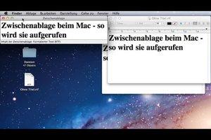 Zwischenablage beim Mac - so wird sie aufgerufen