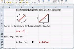Durchmesser beim Quadrat berechnen - so gehen Sie vor