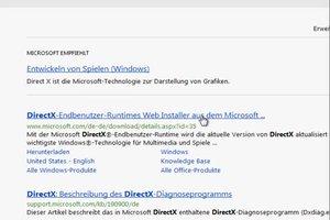 DirectX für Windows 7 aktualisieren - so geht's