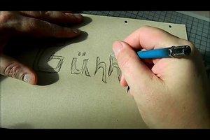 Graffiti-Schablonen selber machen